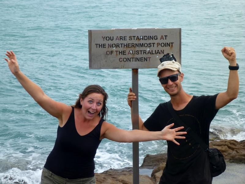 Joe and Sharni on the Tip of Australia
