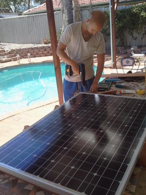 Constructing solar panel frame