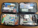 Zuca compartments filled with cosmetics and first aid