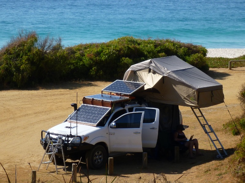 camped at shelley beach