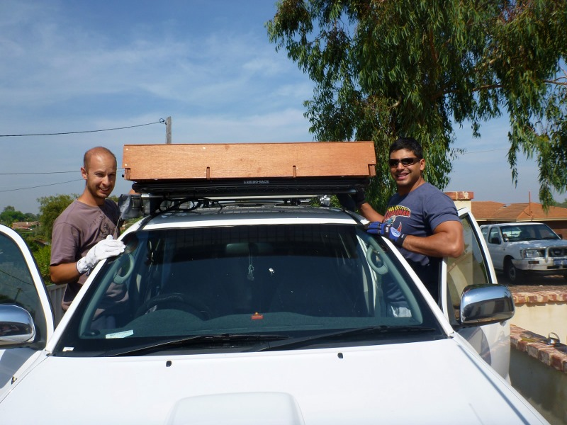 mounting solar panels to roof of hilux