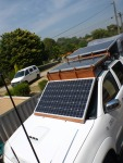 solar panels deployed on roof