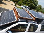 solar panels roof of hilux