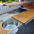 storage drawers workbench extended with sink