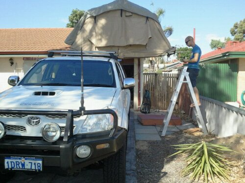 Roof top tent mounted
