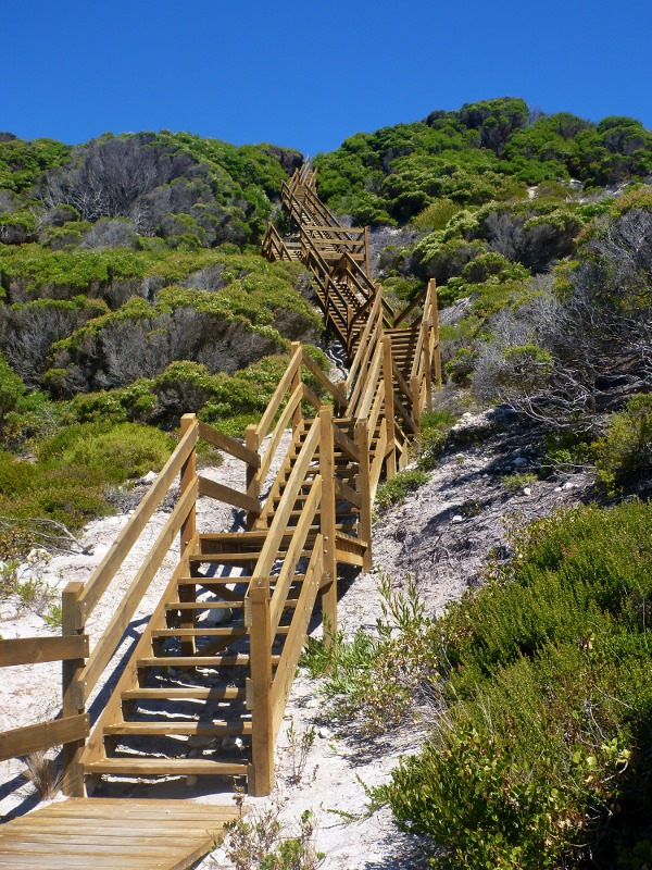 Esperance Ocean Drive steps down to beach