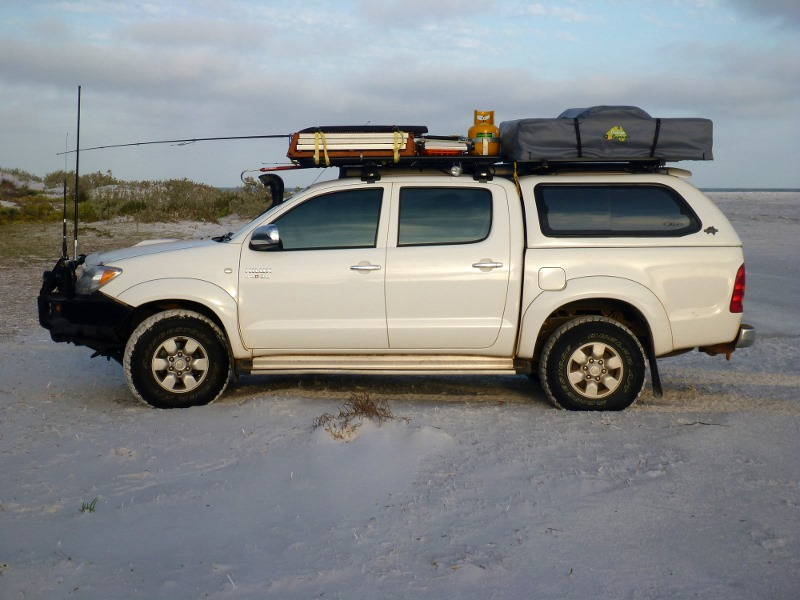 hilux at Tooregullup Beach fitzgeral national park