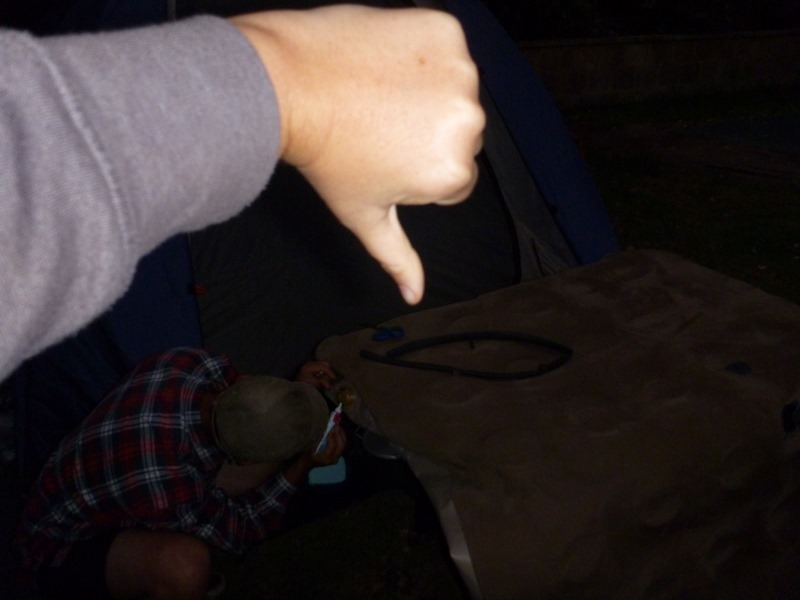 Inflatable Mattress Disaster sharni not a fan