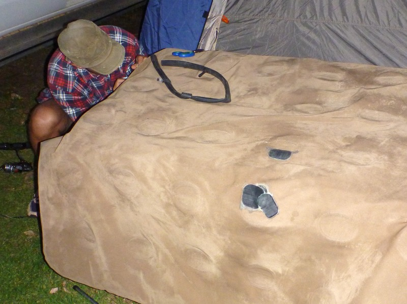 Inflatable Mattress patching up holes