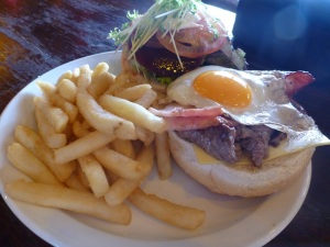 Alice Springs Bo's Saloon steak sandwich