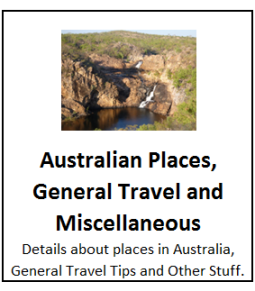 Australian Places, General Travel and Miscellaneous