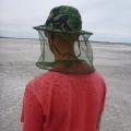 Battling the flies near Googs Lake, on Googs Track