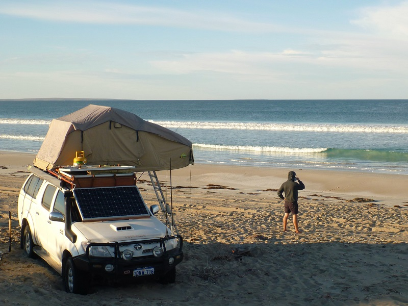 davenport creek beach camping