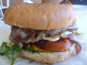 Eucla Amber Hotel steak sandwich