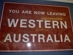 leaving western australia into south australia