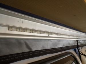 LED light strip on annex