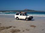 Sharni driving lucky bay Cape Le Grande