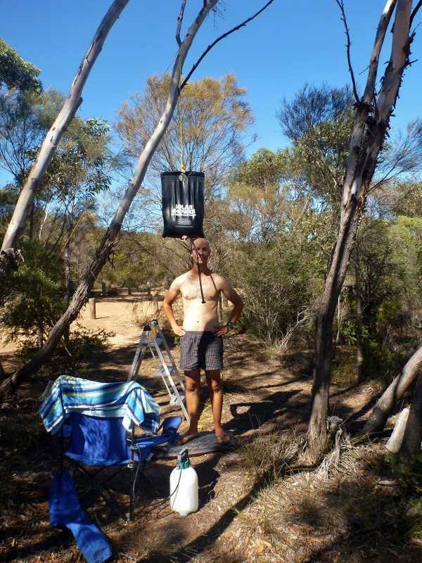 shower at mt ragged camp site