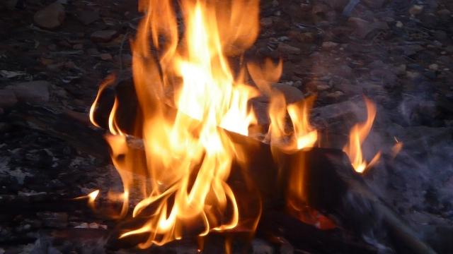 Davenport Ranges camp fire