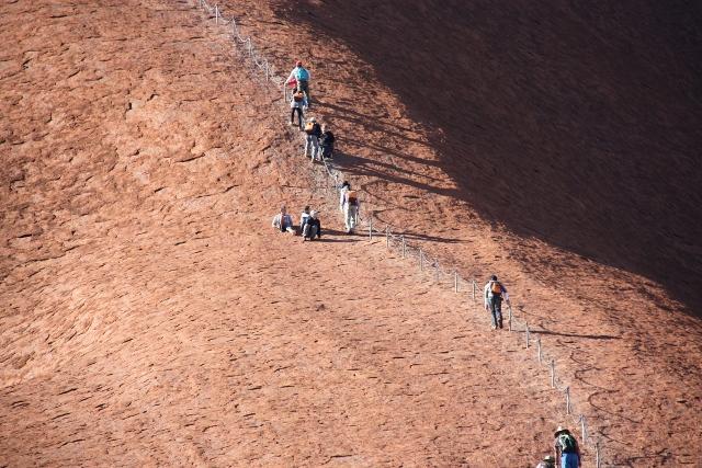 Walk up to Uluru