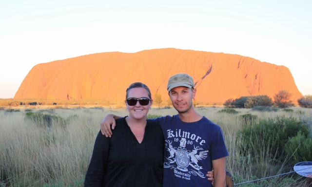 Uluru before sunset
