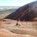 on the way up climbing Uluru