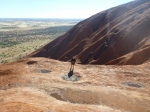 on the way up climbing Uluru