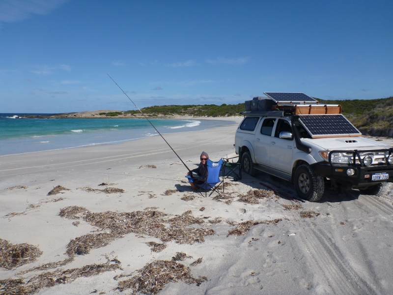 exploring Australia's beautiful remote coast means driving on sand