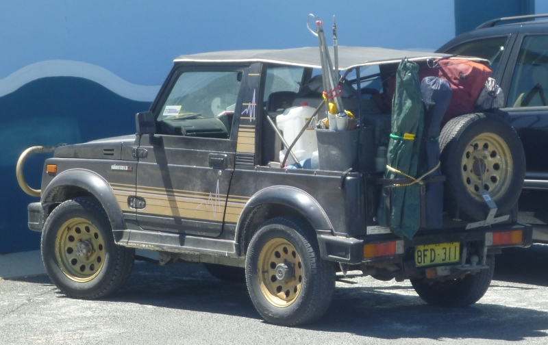 Suzuki Sierra fully loaded for camping