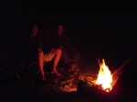 campfire at shady camp, mary river national park