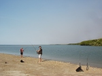 fishing the beach at the mouth of buffalo creek