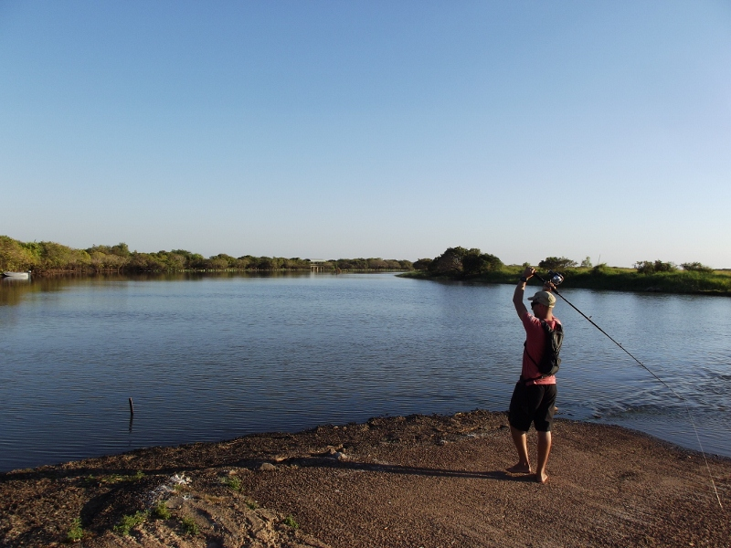 fishing the crossing at shady camp, mary river national park
