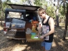 james preparing some barramundi fillets caught the previous day at shady camp