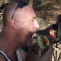 malcolm smashing a home made barra burger