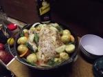 roast chicken dinner, gunlom falls camping area