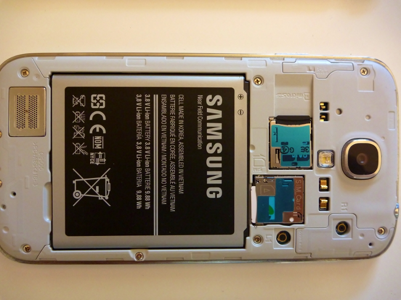 samsung galaxy s4 cover removed aerial ports