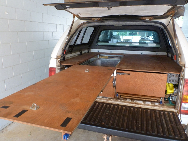 Hilux 4WD Storage Drawers, Fridge Slide and Work Bench ...