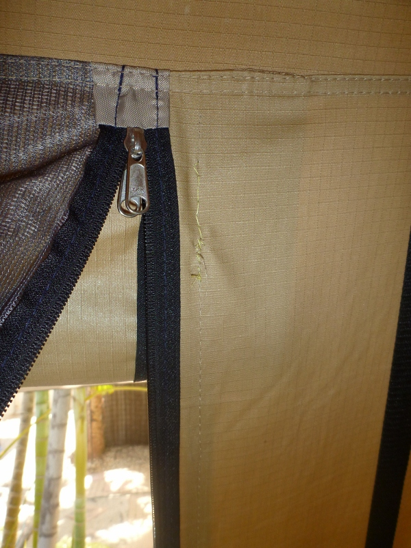 roof top tent zipper stitching fixed