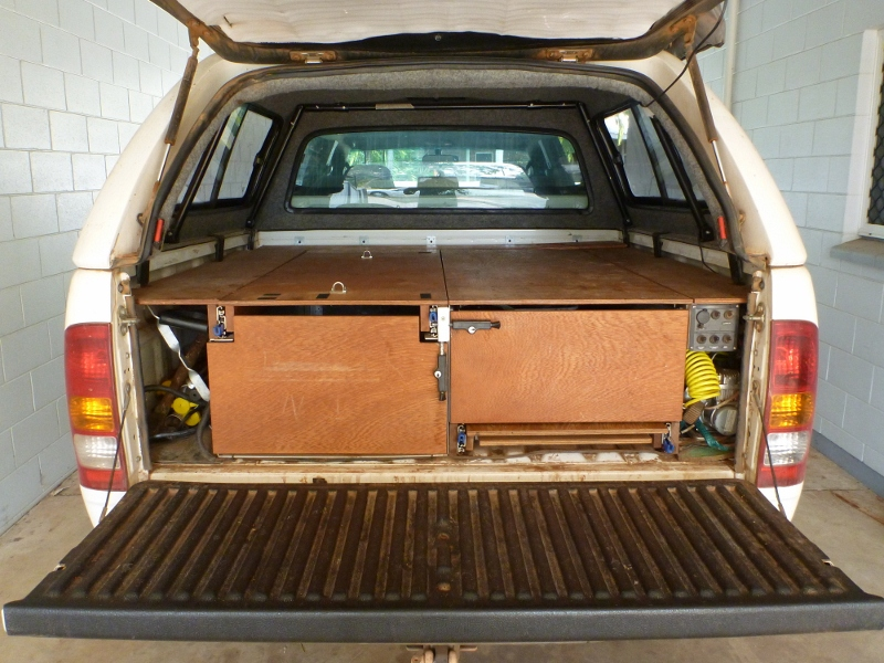 Hilux 4wd Storage Drawers Fridge Slide And Work Bench