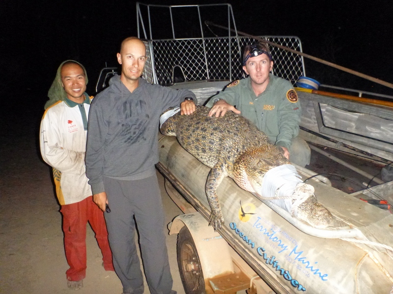 4 mile hole crocodile capture