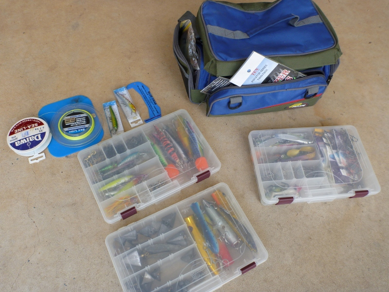 tackle box emptied
