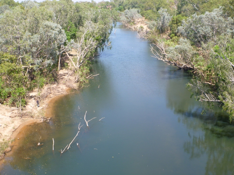 katherine river from railway bridge