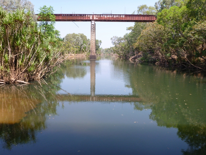katherine river from stuart hwy bridge
