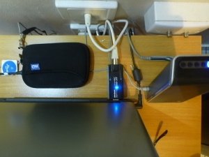 UBS hard drive, speaker and USB TV receiver