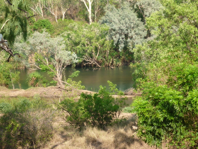 view to katherine river from bike track