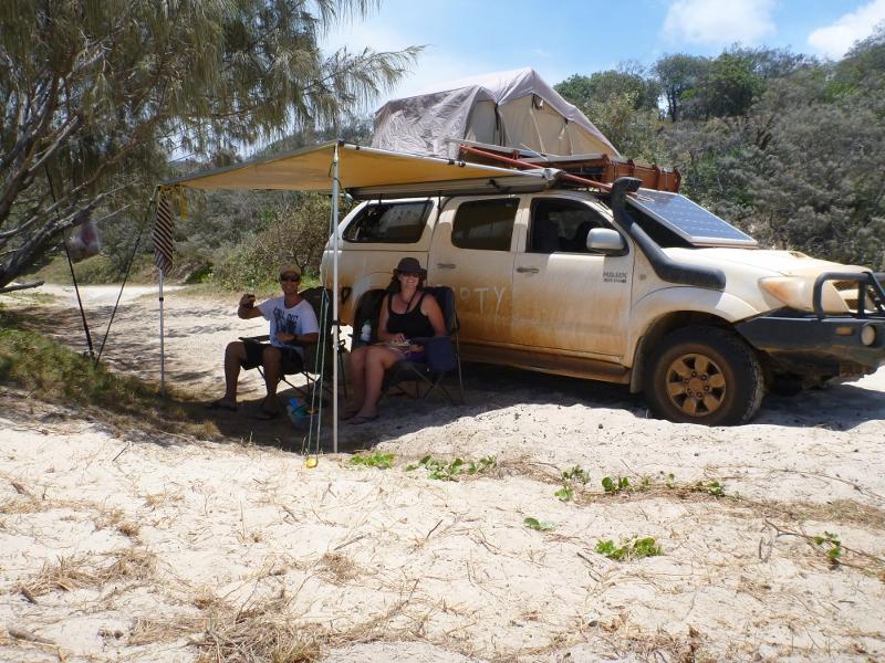 camping at cooloola beach
