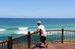 contemplating champagne pools, fraser island