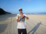 dart caught at cooloola beach
