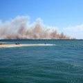 fire near fraser island