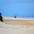 fraser island garbage truck on beach